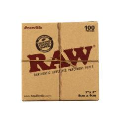 רו ניירות אפייה קטן | Raw rawthentic unrefined parchment paper 8X8