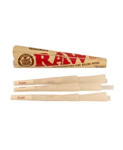 RAW Cones Organic 1 ¼ 6 Pack | רו קונוס 6 בינוני אורגני