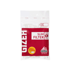 gizeh slim 6mm filter tip גיזה פילטר ספוג צר 6ממ