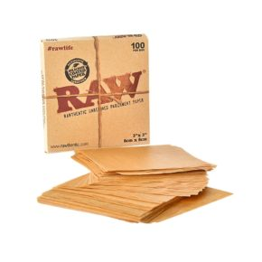רו ניירות אפייה קטן | Raw rawthentic unrefined parchment paper 8X8