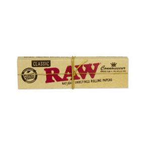 RAW Classic KS Slim + Pre rolled Tips | רו קלאסי גדול עם פילטרים מגולגלים