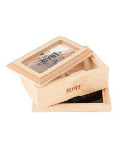 RYOT 3x5 GlassTop Box - Natural | ריוט קופסת טופ זכוכית קטנה - טבעי