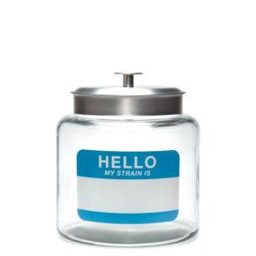 1.5 Gallon Glass jar - Hello Write & Erase | צנצנת זכוכית 1.5 גלון - הזן שלי