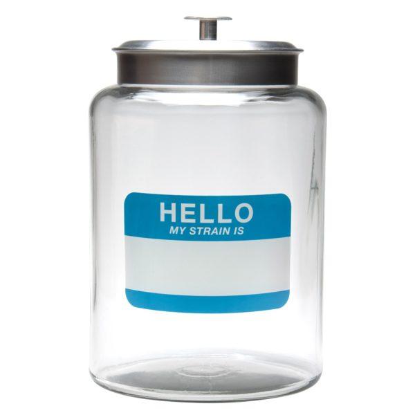 2.5 Gallon Glass jar - Green Leaf | צנצנת זכוכית 2.5 גלון - עלה ירוק