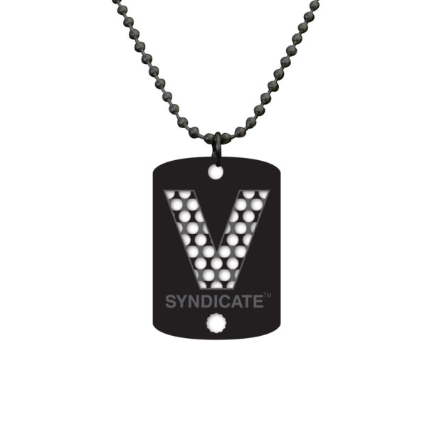 V Syndicate Dogtag - VS Black | וי סינדיקט שרשרת - שחור