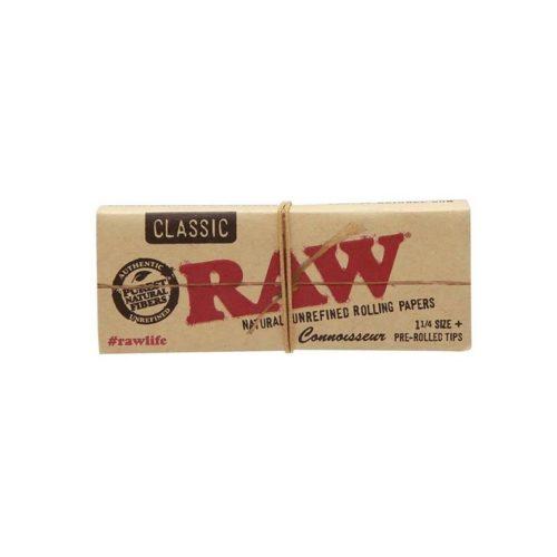 RAW Classic 1 ¼ + Pre rolled Tips | רו קלאסי בינוני עם פילטרים מגולגלים
