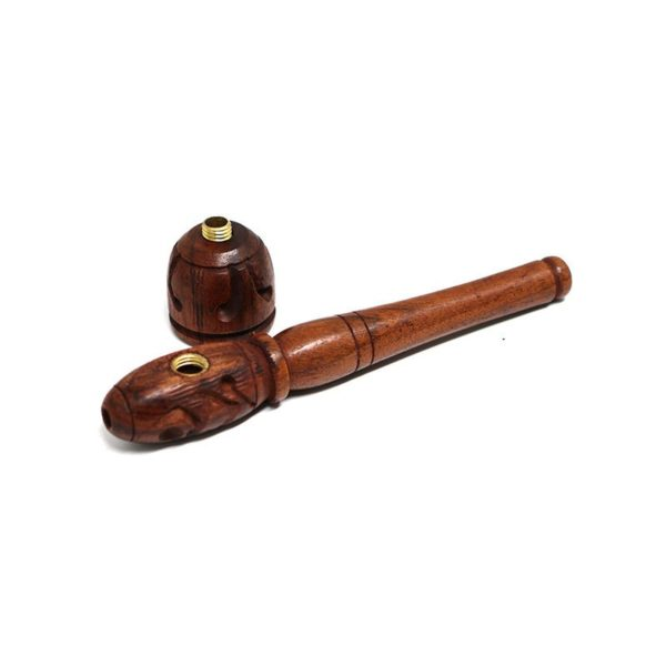 Norman's Hand carved wood pipe M | מקטרת עץ בינונית