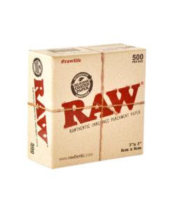 רו ניירות אפייה קטן - 500 יח' | Raw rawthentic unrefined parchment paper 8X8