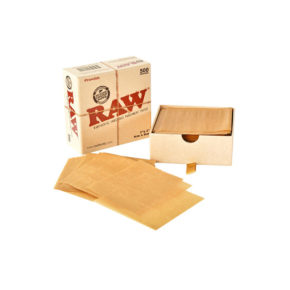 רו ניירות אפייה קטן - 500 יח' | Raw rawthentic unrefined parchment paper 8X8
