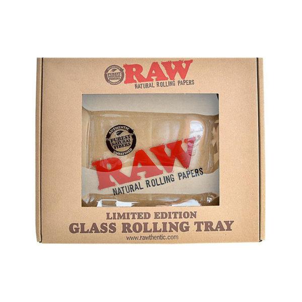 RAW Glass Rolling Tray - Limited Edition | רו מגש זכוכית - מהדורה מוגבלת