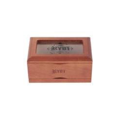 RYOT 3x5 GlassTop Box - Walnut | ריוט קופסת טופ זכוכית קטנה - אגוז