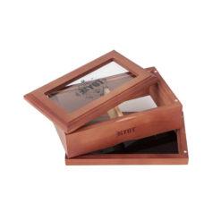RYOT 4x7 GlassTop Box - Walnut | ריוט קופסת טופ זכוכית גדולה - אגוז