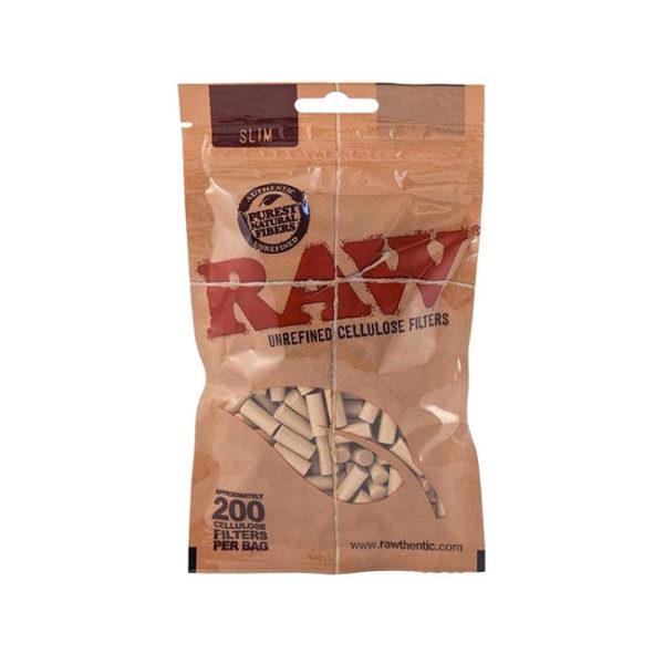 RAW 200 Cellulose Slim Filters | רו 200 פילטרים מ-תָאִית