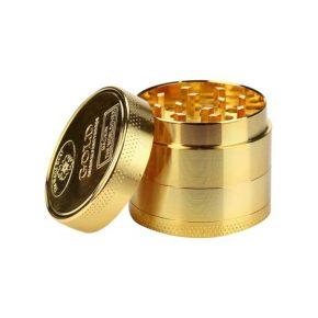 "Gold 58mm Metal Grinder | גריינדר מתכת מוזהב - 58 מ""מ"