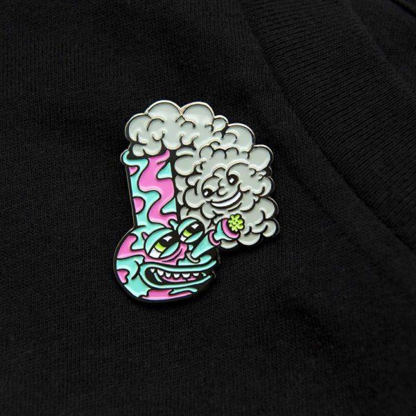 Killer Acid Happy Bong Enamel Pin | סיכה מגניבה - באנג שמח