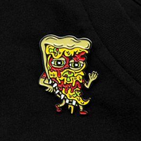 Killer Acid Pizza Friend Enamel Pin   סיכה מגניבה - פיצה
