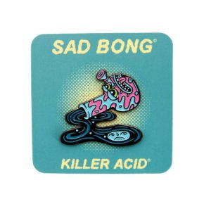 Killer Acid Sad Bong Enamel Pin | סיכה מגניבה - באנג עצוב