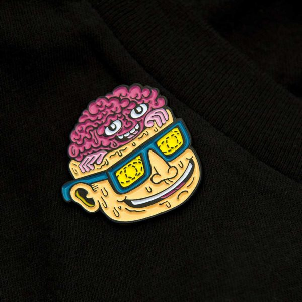 Killer Acid Head Popper Enamel Pin | סיכה מגניבה - מוח