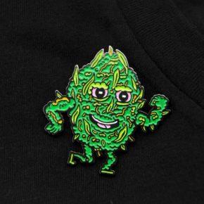 Killer Acid Tuff Nug Enamel Pin | סיכה מגניבה - פרח קשוח