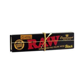 Raw Black Classic KS Slim + Tips | רו שחור קלאסי גדול פילטר