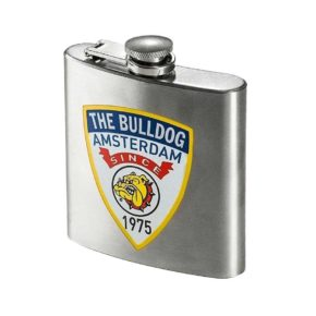 "The Bulldog Hip Flask 6 oz | הבולדוג - פלאסק 175 מ""ל"