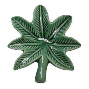 מאפרת עלה קנאביס   Cannabis leaf Ceramic ashtray