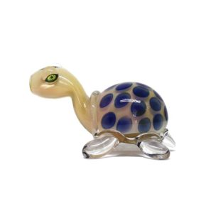 Small Glass Pipe - Turtle   מקטרת פייפ זכוכית - צב יבשה